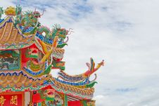 Free Chinese Temple Roof Royalty Free Stock Photos - 30700138