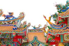 Free Chinese Temple Roof Royalty Free Stock Images - 30700139