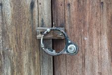 Wooden Doors And Lock. Stock Image