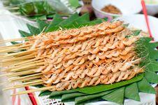 Mekong River Shrimp Grilled. Stock Photos