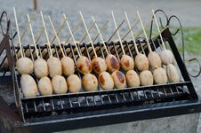 Thai Sausage Grilled Stock Images