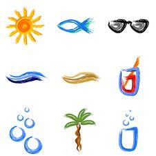 Summer Symbols Royalty Free Stock Photo