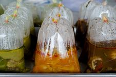 Thai Food In Plastic Bag Stock Image