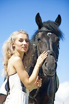 Free Beauty With Horse Stock Photo - 30703660