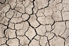 Cracked Surface Of Dried-up Lake Stock Image