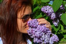Free Woman Kissing Flower Stock Photo - 30707210