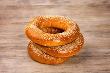 Free Baked Bagels Royalty Free Stock Photos - 30708008