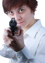 Free Professional Woman With A Gun Royalty Free Stock Image - 30719436