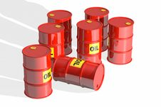 Free Red Oil Barrels Royalty Free Stock Photos - 30710458