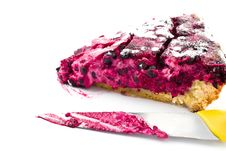 Free A Piece Of Blueberry Pie And Knife Isolated Stock Images - 30711774