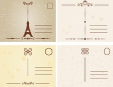 Antique Postcards Royalty Free Stock Images