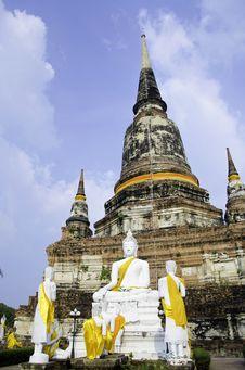 Free Wat Yai Chai Mongkhon Of Ayuthaya Province Thailand Stock Images - 30717114