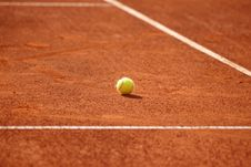 Free Tennis Court With Tennis Ball Royalty Free Stock Image - 30717656