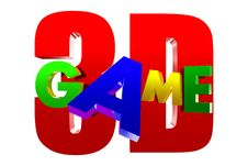 Free Game 3D Stock Image - 30718241