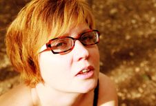Free Close Up Portrait Of Attractive Redheaded Woman Royalty Free Stock Images - 30719359