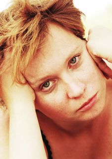 Free Portrait Of Sad Redheaded Woman Stock Photo - 30719370