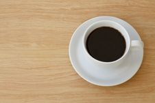 Free Coffee Cup Top View Royalty Free Stock Photo - 30722275