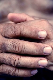 Free Old Man Hand Stock Photography - 30724502