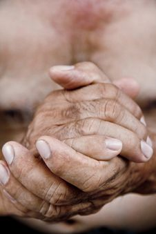 Free Old Man Hand Stock Photos - 30724583