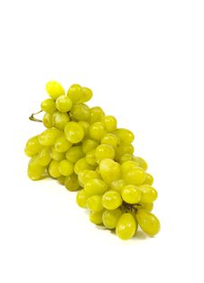 Free Green Grapes Close-up On A White Background Royalty Free Stock Photo - 30724725