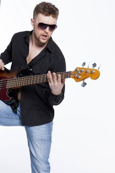Free Bass Player With Attitude Stock Photography - 30726922