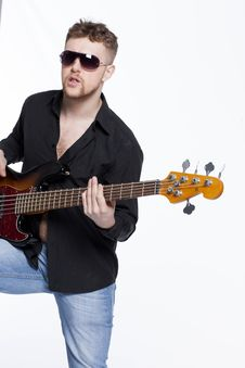 Free Bass Player With Attitude Stock Photos - 30726983