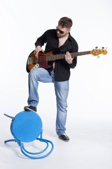 Free Bass Player With Attitude Stock Image - 30727031