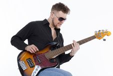 Free Bass Player With Attitude Stock Photo - 30727220