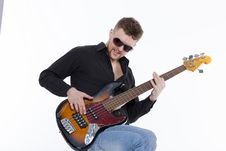 Free Bass Player With Attitude Stock Photo - 30727340
