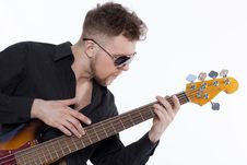 Free Bass Player With Attitude Royalty Free Stock Photo - 30727435
