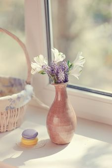 Free Flowers On The Window Stock Image - 30728121