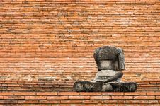 Buddha Statue Without Head Stock Image