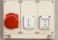 Free Panel With Electric Sockets Royalty Free Stock Photography - 30729337