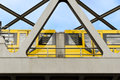 Free Yellow Moving Tram On A Bridge In Berlin Stock Images - 30735504