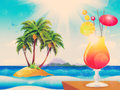 Free Cocktail On The Beach Royalty Free Stock Photo - 30739165