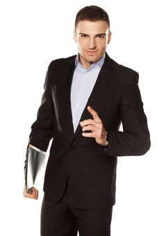 Free Young Businessman With Folder Stock Images - 30730954