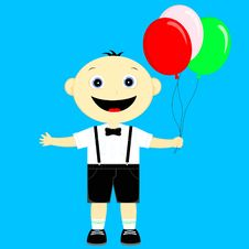 Free The Boy With Balloons Stock Photo - 30733610