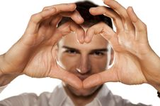 Finger Heart Stock Images