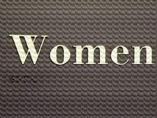 Free Women S Room With Braille Stock Images - 30733874