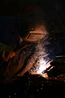 Free Electric Welder Royalty Free Stock Photos - 30734838