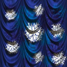Free Curtain With Snowflakes Royalty Free Stock Image - 30739196