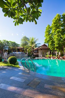 Free Pool In Tropical Garden Royalty Free Stock Image - 30739486