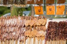 Free Dried Squid. Stock Photography - 30739902