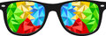 Free Colorful Polygon Nerd Glasses Royalty Free Stock Photo - 30749895