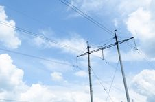 Free Pylons And Sky Stock Photos - 30743173