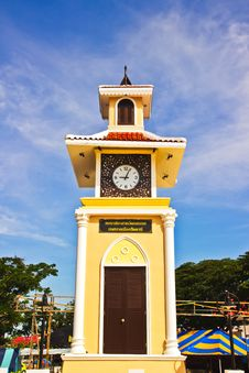 Free Clock Tower Three Cultures,thai. Stock Photos - 30744223