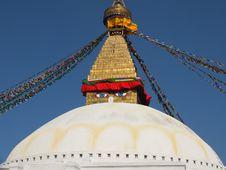 The Stupa Of Bodnath, Nepal Royalty Free Stock Photography