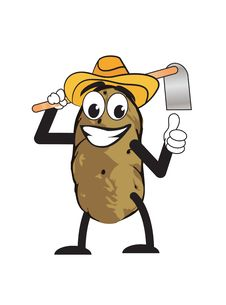 Potato Man Stock Photography