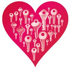 Free Key Heart Royalty Free Stock Images - 30745449