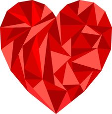 Free Polygon Heart Illustration Stock Images - 30749954